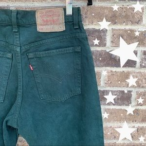 RARE Vintage Levi's 550 Forest Green Mom Jeans 28